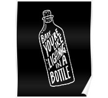 BOTTLE WHITE Poster