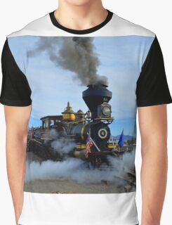Steam Engine Train Graphic T-Shirt