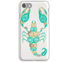 Scorpion – Turquoise & Gold iPhone Case/Skin