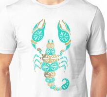 Scorpion – Turquoise & Gold Unisex T-Shirt