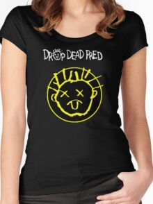 Drop Dead Fred Smiley Face Women's Fitted Scoop T-Shirt