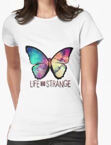 Life is Strange Rainbow Galaxy Butterfly Womens Fitted T-Shirt