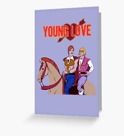 Young Love (He-Man and Bow) Greeting Card
