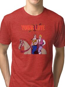 Young Love (He-Man and Bow) Tri-blend T-Shirt