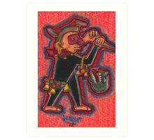 Aztec Guard Art Print