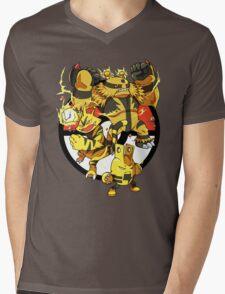 Elecfamz Mens V-Neck T-Shirt