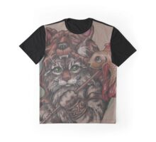 Viking Cat Bear (with fish) Graphic T-Shirt