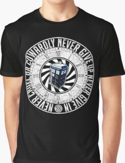 Never Cruel Or Cowardly - Doctor Who - TARDIS Clock Graphic T-Shirt