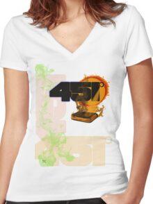 farenheit 451 Women's Fitted V-Neck T-Shirt