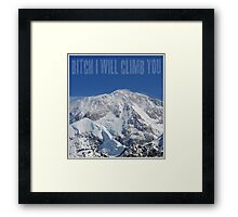 Funny Music Lyrics- Bitch I Will Climb You Framed Print