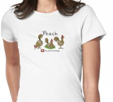 Peach The Chicken Womens Fitted T-Shirt