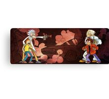 rick and morty fight Canvas Print