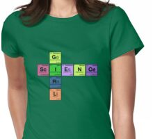 SCIENCE GIRL - Periodic Elements Scramble! Womens Fitted T-Shirt