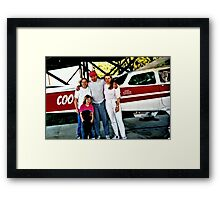 """Flyin' the Country Skys of Cousin Cooter""... prints and products Framed Print"