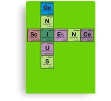 SCIENCE GENIUS! Periodic Table Scrabble Canvas Print