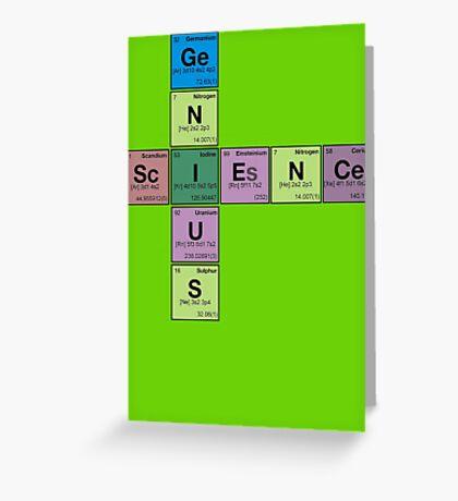 SCIENCE GENIUS! Periodic Table Scrabble Greeting Card