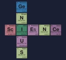 SCIENCE GENIUS! Periodic Table Scrabble One Piece - Short Sleeve