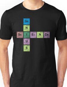 SCIENCE GENIUS! Periodic Table Scrabble Unisex T-Shirt