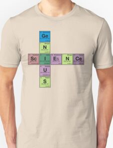 SCIENCE GENIUS! Periodic Table Scrabble T-Shirt