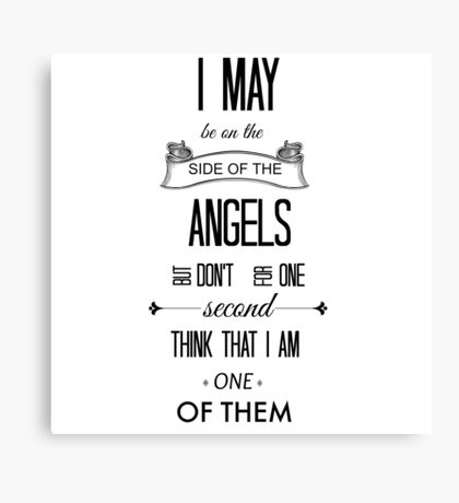 Sherlock - I May Be on the Side of the Angels Canvas Print