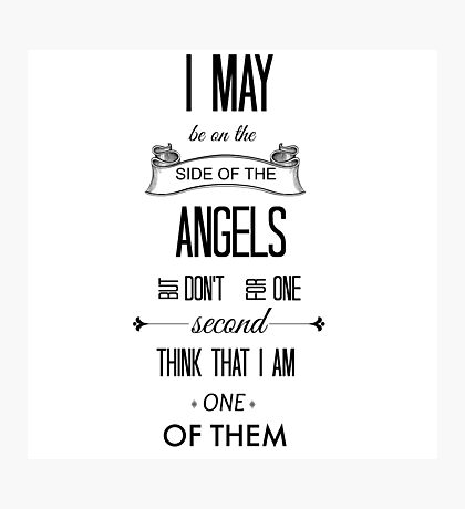 Sherlock - I May Be on the Side of the Angels Photographic Print