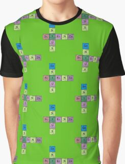 SCIENCE GENIUS! Periodic Table Scrabble Graphic T-Shirt