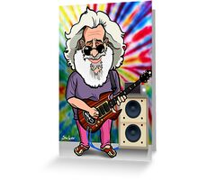 Jerry Garcia (The Grateful Dead) Greeting Card