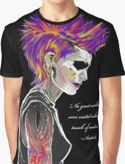 Colorful Mohawk Portrait Graphic T-Shirt
