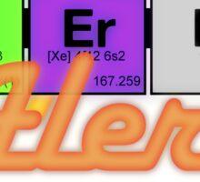 NErD Alert - elemental light neon glow Sticker