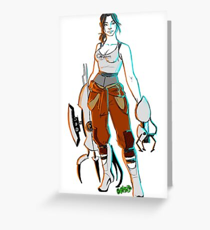 PORTAL 2 - Chell scribble Greeting Card