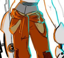 PORTAL 2 - Chell scribble Sticker