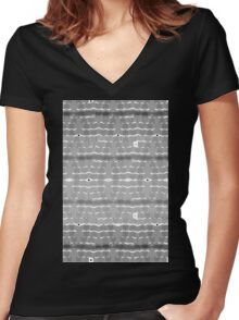 Cubicle Women's Fitted V-Neck T-Shirt
