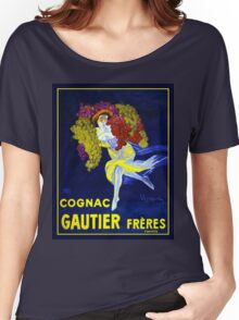 Vintage poster - Cognac Gautier Freres Women's Relaxed Fit T-Shirt