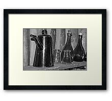 Old Jars and Serving Pot Framed Print