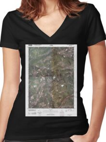 New York NY South Valley 20100415 TM Women's Fitted V-Neck T-Shirt