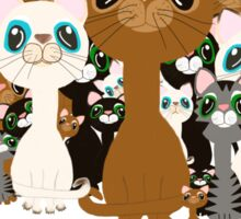Herd of cats  Sticker