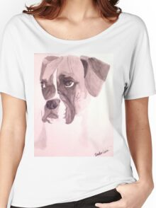 Watercolor Dog Women's Relaxed Fit T-Shirt