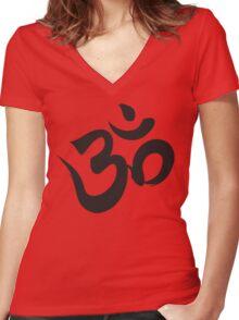 Om Women's Fitted V-Neck T-Shirt
