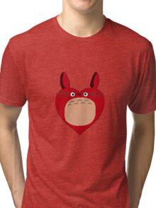 Valentines Totoro Tri-blend T-Shirt