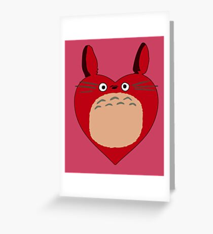 Valentines Totoro Greeting Card