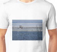 Great Blue Heron In Flight 2014-2 Unisex T-Shirt