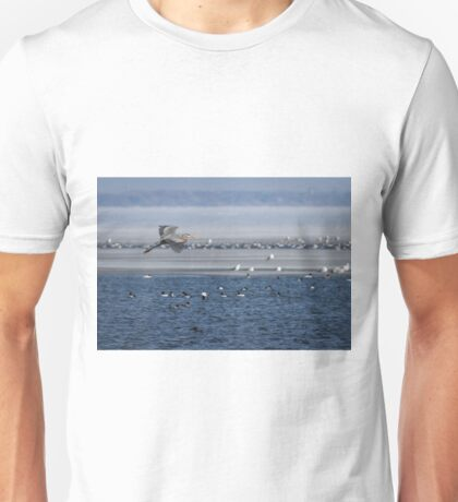 Great Blue Heron In Flight 2014-2 Unisex T-Shirt