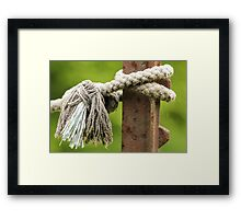 Rope and Post Framed Print