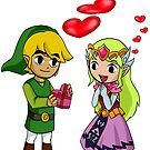 Toon Link and Toon Princess Zelda by Junior Mclean