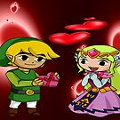 Toon Link and Toon Princess Zelda Valentine's Day Theme by Junior Mclean