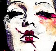 Japanese Creepy Geisha Sticker