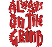 Always On The Grind - Red Photographic Print