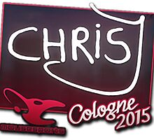 mouz chrisJ - Cologne 2015 Sticker by uDESIGNS