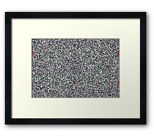 White Noise in the Face of Dragons Framed Print