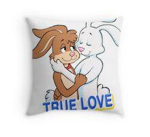 TRUE LOVE NESQUIK TRIX RABBITS  Throw Pillow